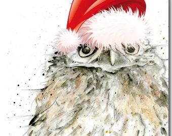 Ollie Owl Christmas Card