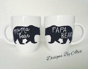 Mama bear Papa bear Mugs