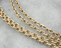 Rectangular Link: Long Yellow Gold Chain  L6TV0Y-N