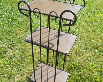 Mid Century Modern Plant Stand Small Table at Ancient of Daze