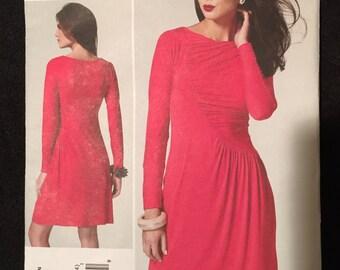 Vogue Patterns Tom and Linda Platt Semi-Fitted Knit Dress with Asymmetrical Bodice Seam,  American Designer Pattern 1283/ Size 6-14