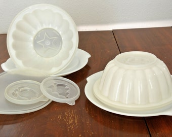 Vintage Tupperware Jelly Moulds