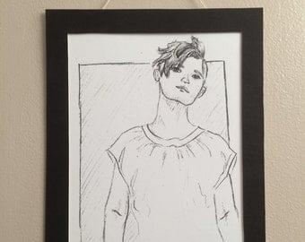 Wishful Portrait Print