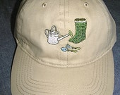 Green Garden Boots on a T...