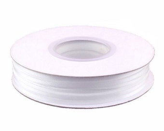 1/8 Inch Double Faced Satin Ribbon - White - 100 Yard Spool