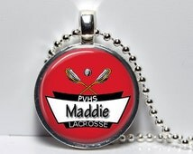 Lacrosse Trophy Personalized Customized  Necklace or Key Chain Team Awards Girls LAX Team pendant Boys Lacrosse Team gift Award