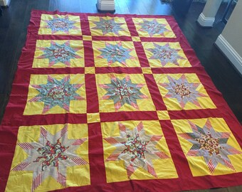 Quilt Top, Beautiful Vintage Quilt Top