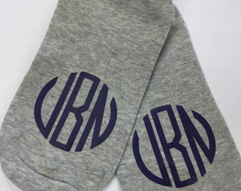 Free Shipping!! Womens Monogrammed Socks/ Ankle Socks/ Monogram Socks/ Mom Gift/ custom Socks