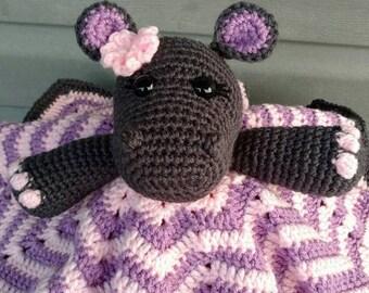 Chevron Hippo Lovey Blanket