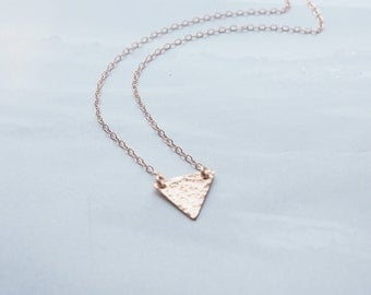 Tiny Triangle Necklace, Available in Sterling Silver, Gold Filled and Rose Gold Filled, Initial Necklace