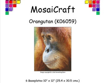 MosaiCraft Pixel Craft Mosaic Art Kit 'Orangutan' (Like Mini Mosaic and Paint by Numbers)
