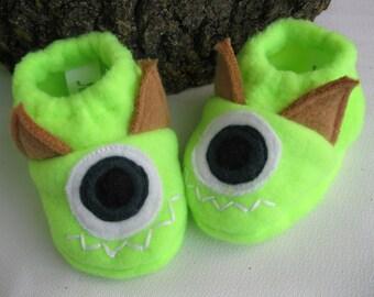 baby monster slippers