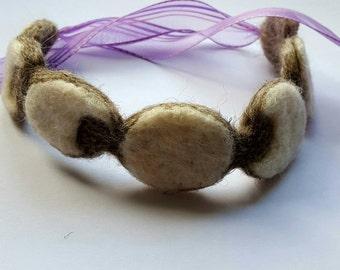 Moon phase needle felted headband _ moon phase headband - moon phase hair acssesories - headband - festival headband