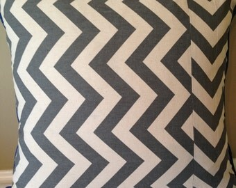 Chevron Pillow Cover 18 x18 inch Gray White Chevron Pillow Cover Boy Pillow Cover Chevron Pillow Cover Gray White Pillow Cover