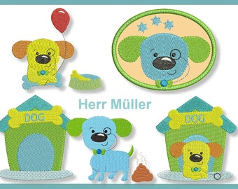 Mr. Miller in the house fill stitch 10 x 10 4 x 4 embroidery pattern 8 embroidery patterns