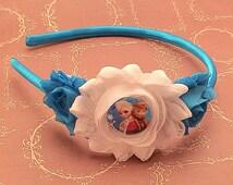 Princess Elsa Headband, Princess Anna Headband, Frozen Headband, Disney Hairbow, Elsa Hairbow, Anna Hairbow, Girl Headband, Baby Headband
