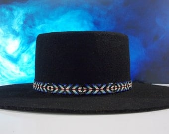 Eye Of A Medicine Man Native American Beaded Hat Band Authentic Cherokee Hand Made Jewelry Beadwork By LJ Greywolf