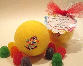 Gumdrops and Lollipops  Bath Bomb Fizzy Moisturizing Bath Bomb