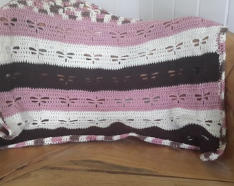 Neapolitan striped dragonfly blanket