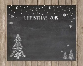 Christmas 2015 Chalkboard Photo Backdrop - Chalkboard  Christmas Printable