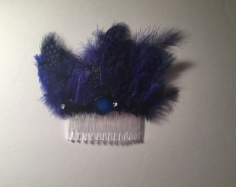Party Feather Hair Comb