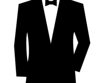 DIY Personalized Wedding Beer Glass Vinyl Decals Tuxes, Vests and Names, Make Your Own Wedding Glasses