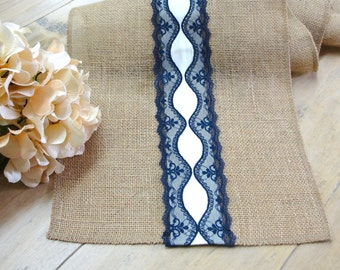 Wedding Table Runner Burlap Table Runner Vintage Burlap And Lace Table  Linens Rustic Wedding Linens ,