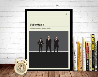 Superman II Movie Poster Art Print