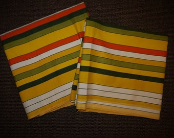Fabric - Cloth - RETRO - Swedish 60s - Stripes - Strong Colors - Craft -