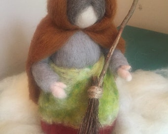 Ready to ship-Waldorf Inspired Needle Felted Mrs.Thaw