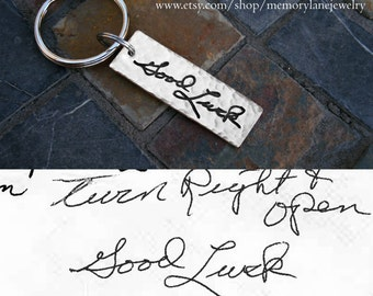Handwriting Keychain - Handwriting Jewelry - Keepsake Jewelry - Memorial Jewelry - Actual Handwriting