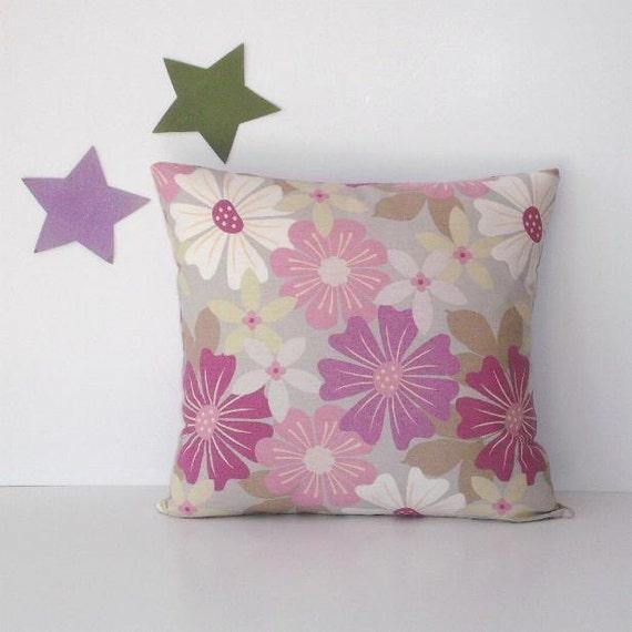 lavender green floral pillow cover 18 x 18. Black Bedroom Furniture Sets. Home Design Ideas