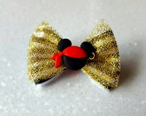 Halloween Mickey Mouse Pirate inspired Magic Band Bow