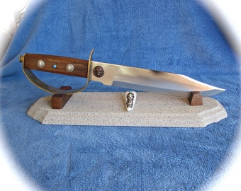 Custom Knife - Bowie Knife with D - Guard - Southwestern - Native American