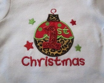 Ready to Ship ~ Baby's 1st Christmas Onsie ~ 0-3 Months ~ Neutral Baby Boy or Girl