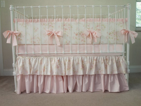 Vintage Floral Mary Rose Shabby Chic Baby Pink by ...
