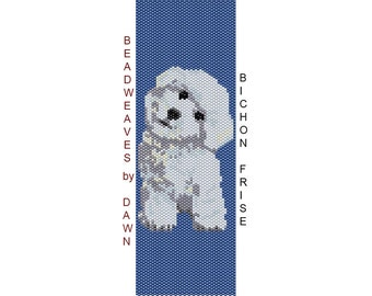 Peyote Bracelet Patterns, Beading Instructions, Bichon peyote bracelet, Bead Patterns, Beadwork Pattern, Peyote Stitch patterns, dog pattern