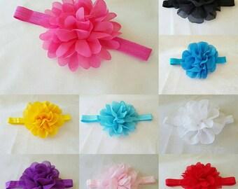Chiffon flower on foe headband