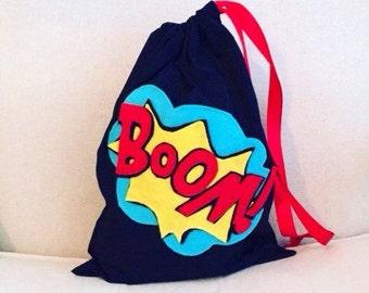 4x Superhero theme handmade party bags