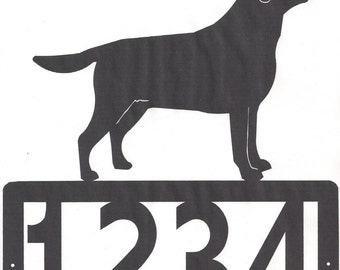 Custom labrador Address Metal Sign