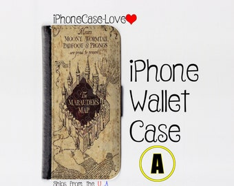 iPhone 6S Case - iPhone 6S Wallet Case - iphone 6S - iPhone 6S Wallet - Harry Potter iphone 6S case A - Marauder Map iphone 6S case