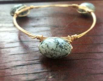 Speckled Wire Bangle Bracelet