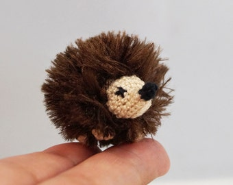 Micro Crocheted Hedgehog