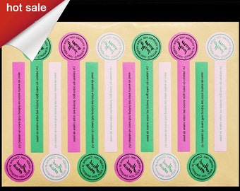 Masking Stickers set 10 for Plastic Push Pop Containers w/Lids Cake Shooters Push Up Pops ,custom print labels , tags