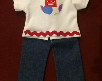 Anger American Girl outfit (shirt and jeans)