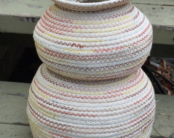 Coiled Basket inspired by Vintage Southwestern Pottery