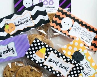 Halloween Treat Bag Printables - INSTANT DOWNLOAD