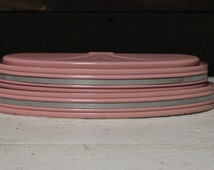 Vintage Pink and Silver Wall Mount Reading Lamp, Mid Century Pink Lighting