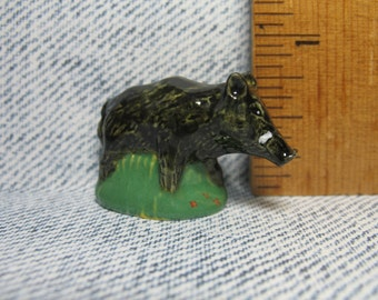 WILD BOAR Pig Boars, Hunting in the Woods Series  - French Feve Feves Figurines Miniatures V140
