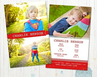 ON SALE Model Comp Card - Photoshop template - AM002 - Instant Download